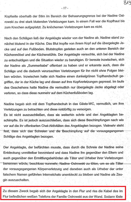 Mordfall Nadine O. und der Vollidiot Winfried Sobottka ...