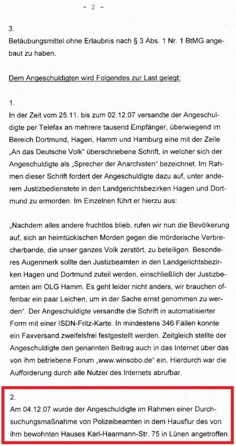 Winfried Sobottka Anklageschrift 2.3a